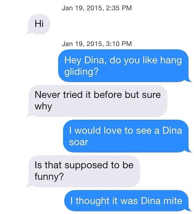 First lines tinder What to