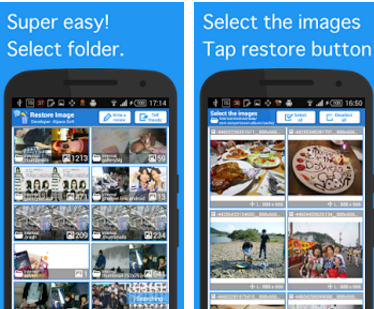 Recover images with Restore Image App