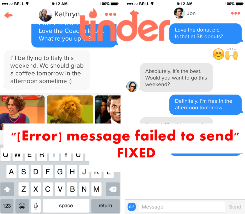 Tinder Message Failed to Send