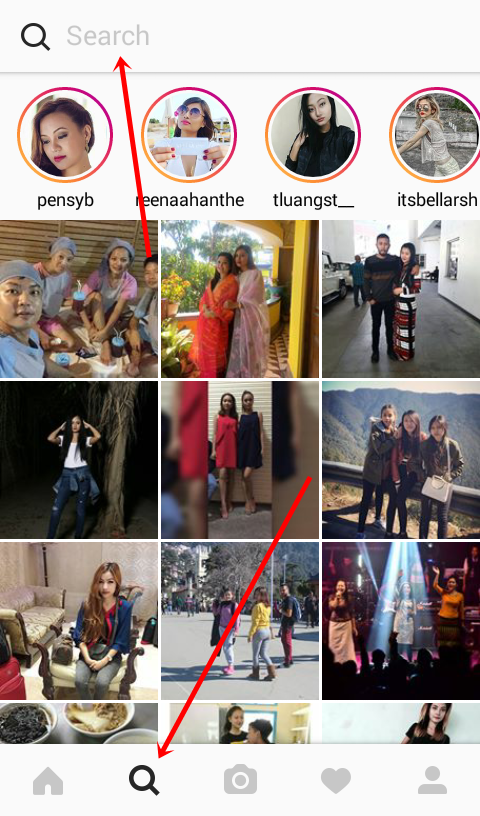 Search Instagram Users on Android
