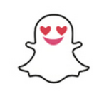 Snapchat smiling Face With Heart-Shaped Eyes