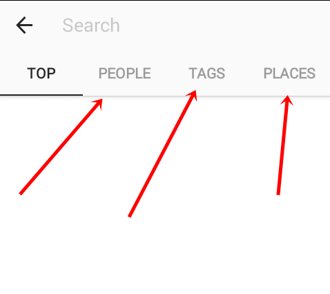 instagram search options