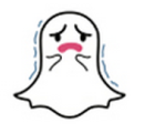snapchat ghost crying face