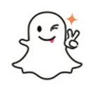 snapchat ghost with victory sign