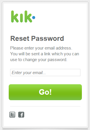 How To Reset Kik Password