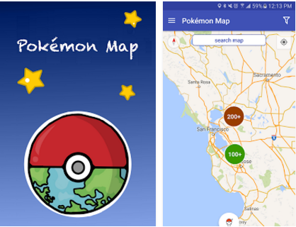 Map for Pokemon Go PokemonMap