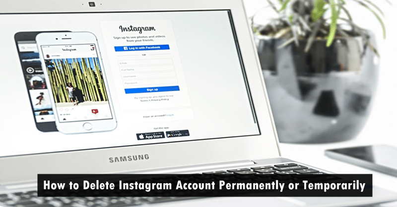 instagram how to delete your account