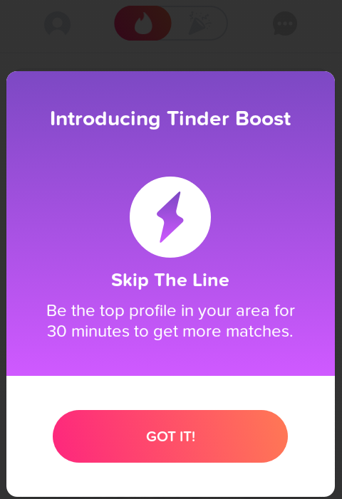 Active Tinder Boost