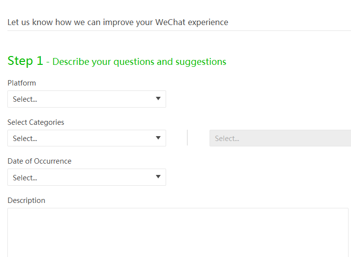 Contact WeChat Support Centre