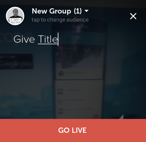 Give periscope broadcast title
