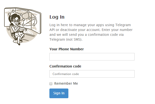 Telegram confirmation code