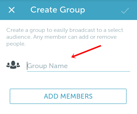 enter periscope group name