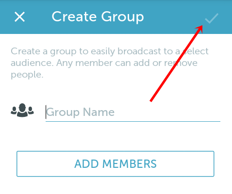 periscope group settings