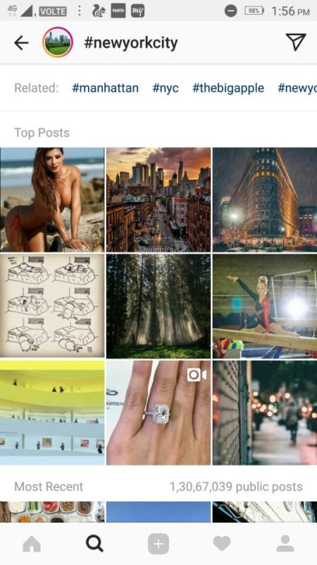 How To see hashtag Stories or Pages