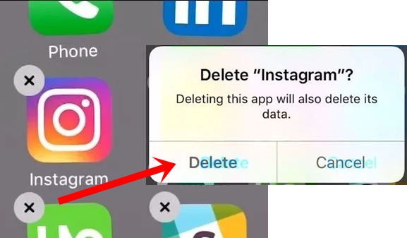 how to delete instagram on android