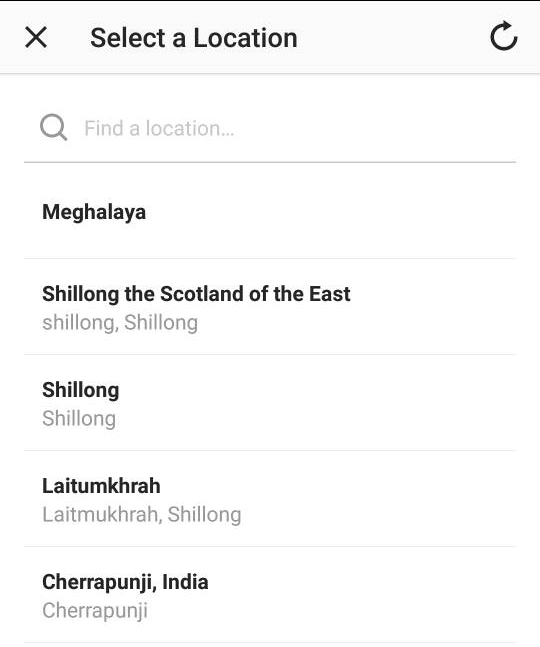 instagram location suggestions