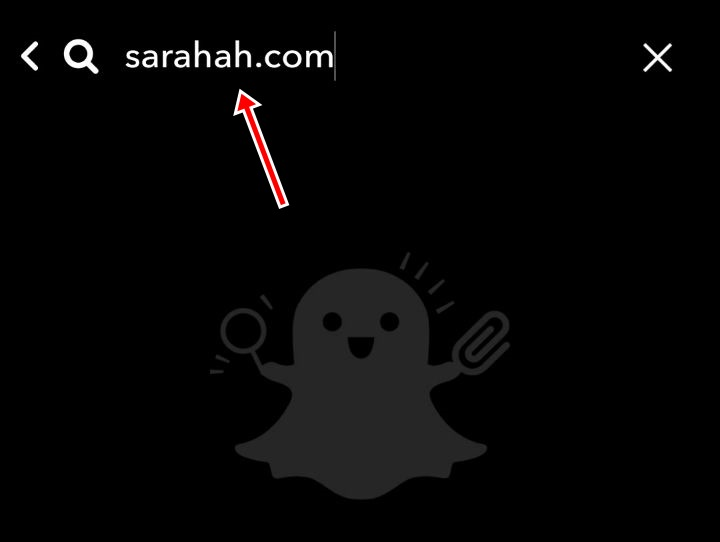 how to connect sarahah to snapchat