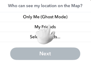 snap map options