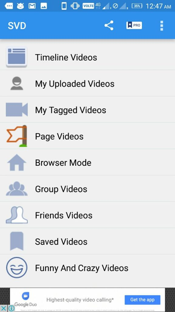 Video Downloader for Facebook categories