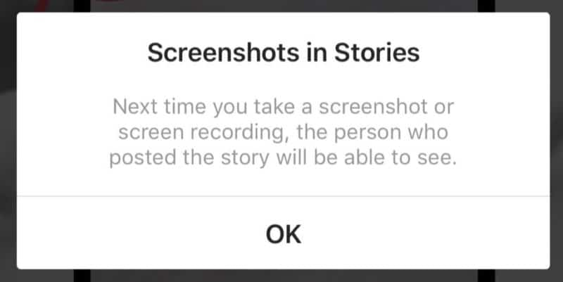 Instagram Stories Screenshot Notification