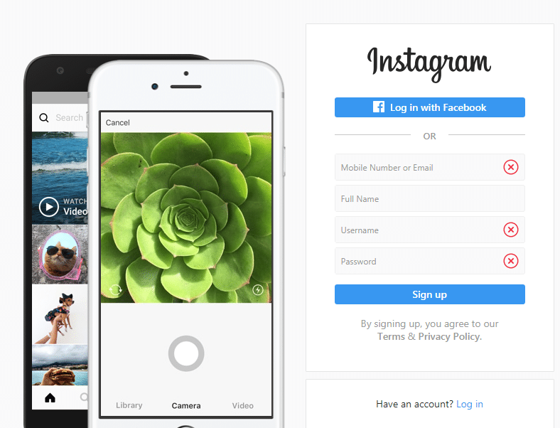 screen capture Using Instagram Web Interface (Web version)
